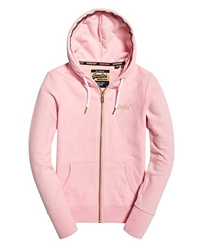Superdry Zipper Damen ORANGE Label Elite Fade Pink, Größe:M