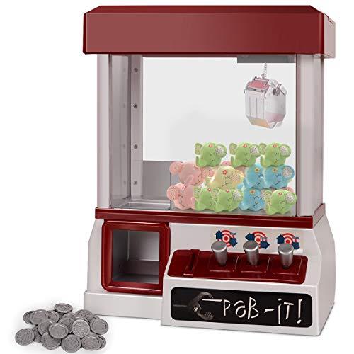 COSTWAY Candy Grabber mit Musik   Süßigkeitenautomat mit Spielmünze   Greifautomat Spielzeug Geschenk   Kinder Spielautomat 35x26x20cm ( Süßigkeitenautomat / rot)