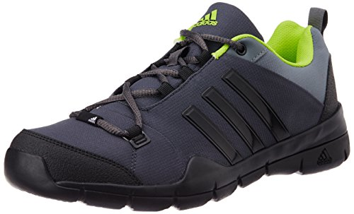 adidas Men's Wind Chaser Black, Dark Grey, Grey and Yellow Multisport Training Shoes - 8 UK