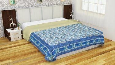 Mulsin Fabric Jaipuri Dohar King Size (AC Quilt) for 2 People