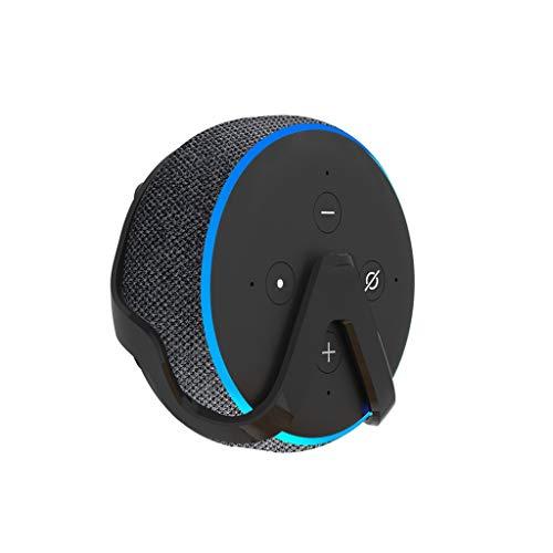 Transer Professional Outlet Hanger Wall Mount Stand Holder Bracket for Amazon Echo Echo Dot 3nd Generation (Black)