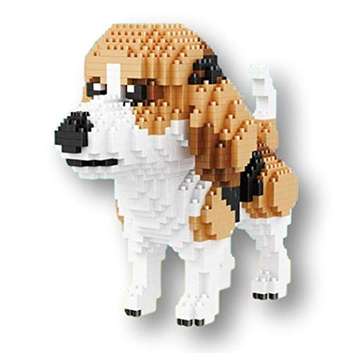 Beagle Dog / Kit für 10 kleine Hunde. Figuren zum Zusammenbau mit Nanoblöcken. 1800 Stück. - Erwachsenen-modell-kits