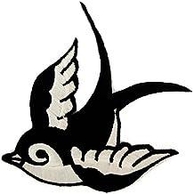 Símbolo de paz blanco y negro Paloma de la paz Paloma de la paz del Hippie Patch '9.5 x 6.3 cm' - Parche Parches Termoadhesivos Parche Bordado Parches Bordados Parches Para La Ropa Parches La Ropa Termoadhesivo Apliques Iron on Patch Iron-On Apliques