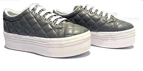 JEFFREY CAMPBELL Sneaker ZOMG Grigio Trapuntato (40)