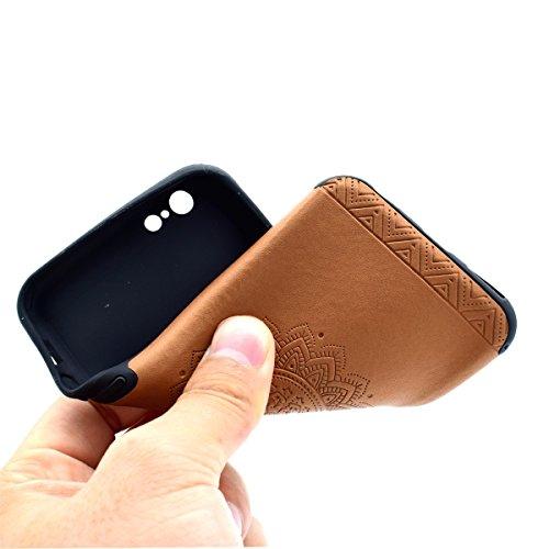 Custodia inShang cover per iPhone 7 4.7 Cellulare,super slim e leggero TPU materiale Cover posterior stili per iPhone7 4.7 inch Brown printing