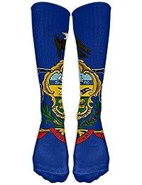 Lmunxuy Knee High Socks Socks Pennsylvania Women Printing Novelty Long Sport Stocking