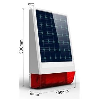 Multi Kon Trade: Funk Solar Power Sirene mit Bitzlicht * Innovativ * Einfach * Funk Solar- Aussensirene mit Blitzlicht für unsere Alarmanlagensysteme * 433 MHZ *
