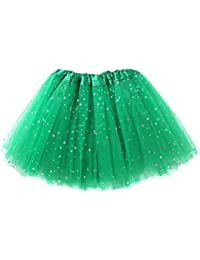 PJPYIF Niñas tutu Glitter Danza Ballet Faldas de tutú