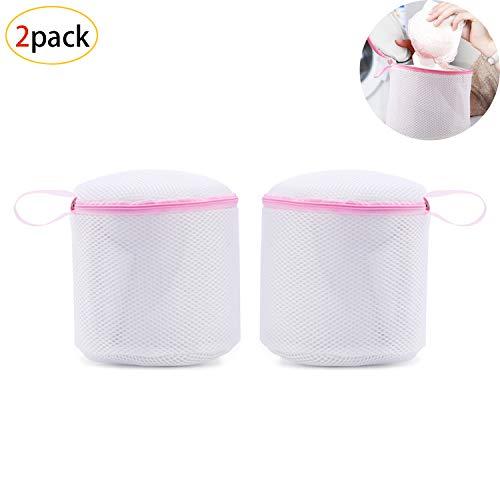 Wäschesack,Profi BH-Wäschebeutel,Wiederverwendbare Netztaschen mit Reißverschluss für Waschmaschine und Trockner,Wäschebeutel Ideal für Dessous,Unterwäsche und Socken(2 Stück,Weiß) -