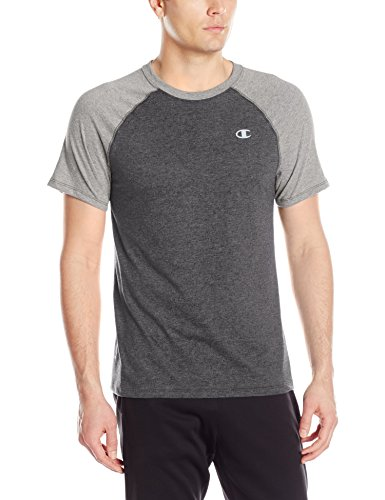 Champion Herren T-Shirt Double Dry Cotton Short Sleeve - Schwarz - Groß - Double Dry Short Sleeve Tee