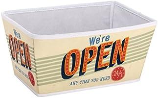 Wenko 21609100 SDB Vintage Open Corbeille Taille M Dimensions 31,0 x 22,0 x 15,0 cm