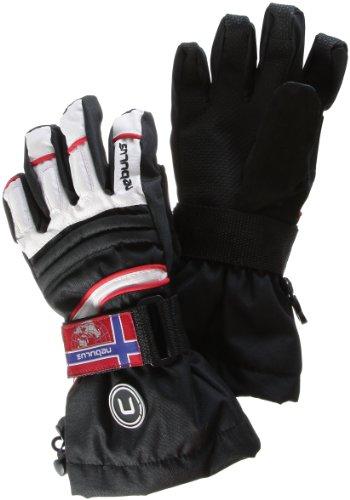 Nebulus Damen 3in1 Skihandschuhe Cold-Tech II, Schwarz-Weiß, 6.5