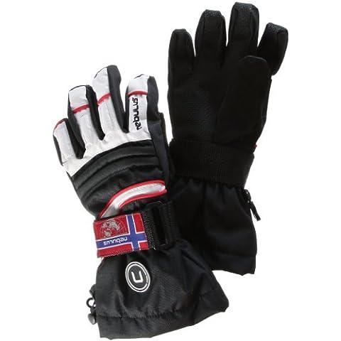 Nebulus - Guantes de esquí para mujer, tamaño 7,5 UK, color blanco / negro