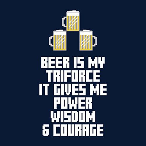 Beer Is My Triforce Legend Of Zelda Women's Sweatshirt Navy blue