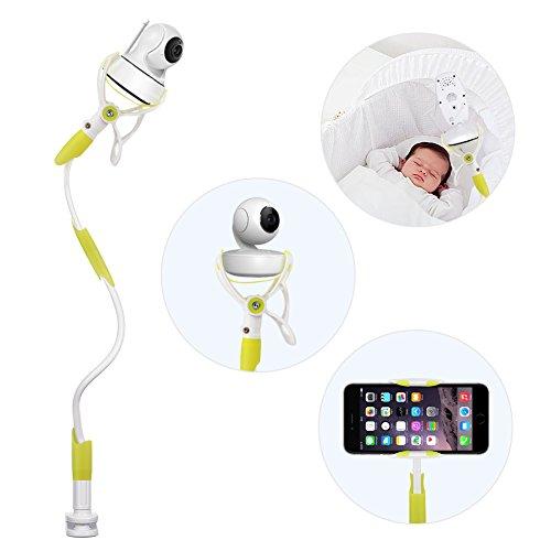 Baby Kamera Halterung, YIKANWEN Universal Baby Monitor Halter,Handyhalter, Flexible Kamera Ständer für Kinderzimmerkein | kein Bohren | sicherer Monitor für Ihr Baby (Grün)