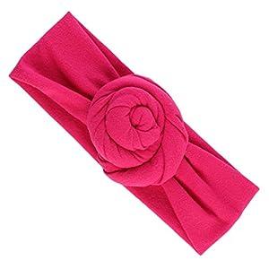 MagiDeal Elastisch Haarband Stirnband Knoten Blumen für Baby Mädchen