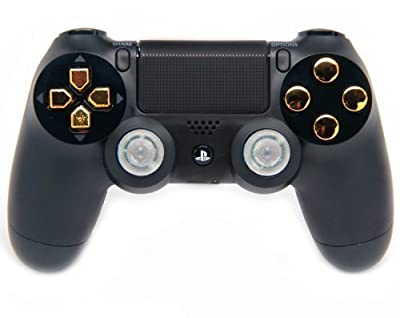 Black/Gold Ps4 Rapid Fire Custom Modded Controller for BO3, Advanced Warfare, Destiny, Ghosts Quick Scope Auto Run Sniper Breath and More by Playstation