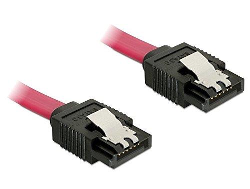 Preisvergleich Produktbild SATA 6 Gb/s Anschlusskabel mit Metallclip, 20cm, Delock® [82675] (2, SATA III Kabel)