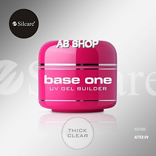 Base Cover (Base One Thick Clear 50g UV Gel Nails Acid Free Builder File Off Gel Silcare)