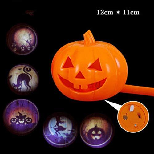 Ytter Halloween Kürbis Licht Sprachsteuerung tragbare hohlen Projektion Kürbis Lampe Kinder Laternen Kindergarten Aktivitäten liefert Requisiten-1