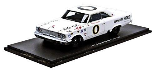 Spark-S3601-Ford Galaxy-Daytona 1963-Maßstab 1/43-Weiß/Schwarz