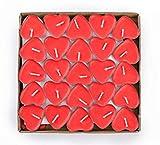 EXQUILEG 50x Kreative Romantische Herz Kerzen, Kerzen Hochzeit, Kerzen Teelicht,Liebe Kerze,Herzkerze Liebe Set Deko für Geburtstag,Vorschlag,Hochzeit,Party (Rot)