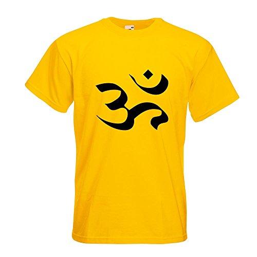 KIWISTAR - Om T-Shirt in 15 verschiedenen Farben - Herren Funshirt bedruckt Design Sprüche Spruch Motive Oberteil Baumwolle Print Größe S M L XL XXL Gelb