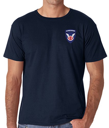 US Army 11th Airborne Angels Embroidered Logo - Ringspun Cotton T Shirt By Military online (Airborne 11th T-shirt)
