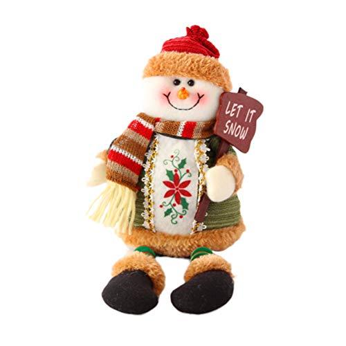 BESTOYARD Sitzend Schneemann Puppen Weihnachten Dekofigur Tischdeko Geschenk -