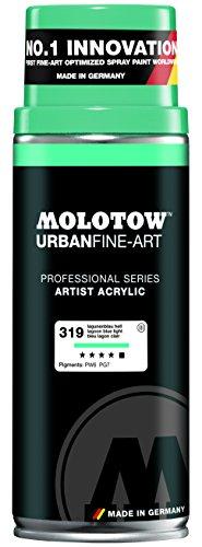 Spray Paint Light (Molotow : Urban Fine Art : Artist Acrylic Spray Paint : 400ml : Lagoon Blue Light 319 : Ship By Road Only)