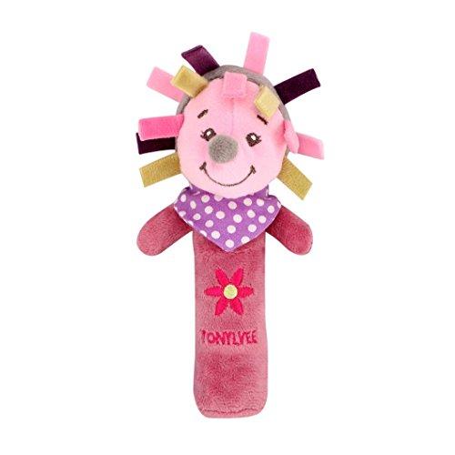 LCLrute New Hohe Qualität Kinder Spielzeugtiere läuten Glocken Tiere Hand Glocken Musical Baby Soft Toys Entwicklungs Rassel Bett Kinder (C)
