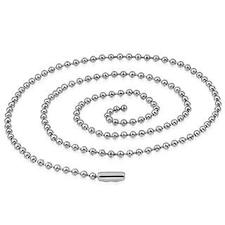 Unisex Halskette EK 28 bk3 Edelstahl Kette RD 1,5 mm Dog Tag Stil 60 cm lang - lässt sich kürzen