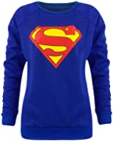 WOMENS LADIES BATMAN SUPERMAN Boy COMIC PRINT PRINTED TOP JUMPER SWEATSHIRT SIZE 814