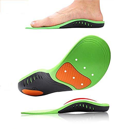 EEIEER Orthopädische Einlegesohlen,Fußbett einlagen mit gel Pelotte Mittelfußstütze für senkfuß plattfuß,für Arthritis/Fersensporn,Rutschfest...