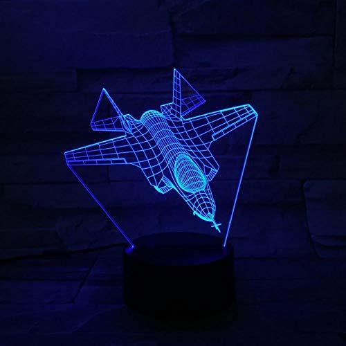 WangZJ Karotte Led Nachtlichter 3d Illusion Nachttischlampe/leuchten Weihnachtsschmuck/Kampfflugzeug Flugzeug/Fernbedienung und (Karotte Kostüm Hunde)