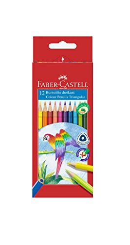 Preisvergleich Produktbild Faber-Castell 116512 Farbstift Dreikantform Kartonetui 12er