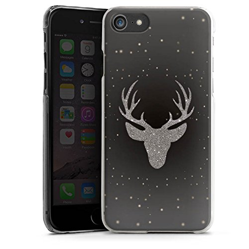 Apple iPhone X Silikon Hülle Case Schutzhülle Hirsch Glitzer Muster Hard Case transparent