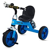 #7: Baybee Espada Baby Tricycle Kid's Trike with Parental Adjust Push Handle Children Tricycle/Bicycle with Water Bottle Kid's Ride on Outdoor   Suitable for Boys & Girls - (1 to 5 Years)- Blue