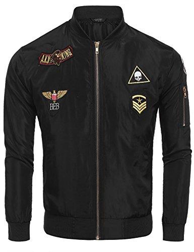 Coofandy Mens Bomber Jacket Lightweight Polit Vintage Casual Windbreaker Coat