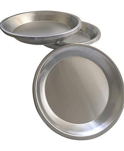 Assiette à tarte en aluminium en métal 22,9cm Poêle-Lot de 10 Apple Pie Plate