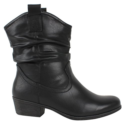 Japado , Bottes et bottines cowboy femme Noir - Noir