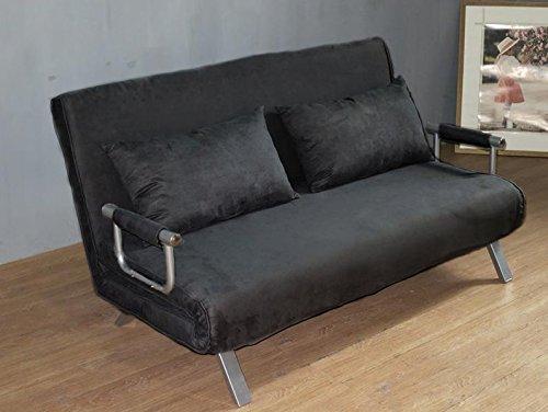 ITALFROM–Schlafsofa, 2-Sitzer, 155x 69x 83cm schwarz