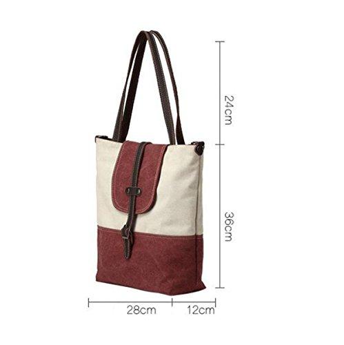 Schlagfarbe Kleine Frische Segeltuchschulterbeutel Weibliche Diagonale Paket Einfache Spielraumbeutel Red