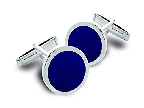 BROOKE Manschettenknöpfe Lapis blau Silber