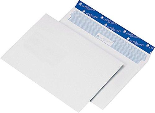 Lot de 25. Cygnus Enveloppes DIN B5blanc sans fenêtre Patte autocollante (176x 250mm)