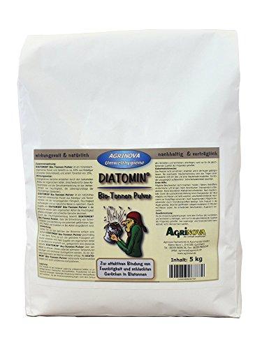 Agrinova DIATOMIN Bio-Tonnen Pulver (5 kg Beutel als Trocknungsmittel und Gegen schlechte Gerüche in Biotonnen)