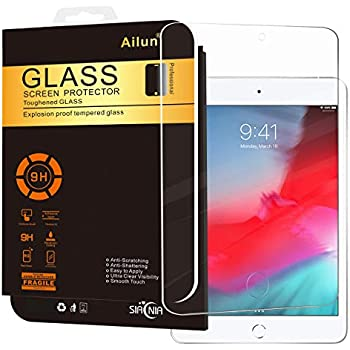 b64c2805aeb0c6 Ailun Screen Protector for iPad Mini 4/Mini 5 2019,Tempered Glass,9H  Hardness,2.5D Edge,Ultra Clear,Scratch-Proof,Case Friendly