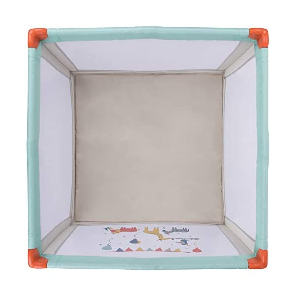 Safety 1st Circus Compact Travel Cot Safety 1st Spacious play area (1 m x 1 m) 2 uses: in playpen or in travel bed 4 large windows nets to see baby 4