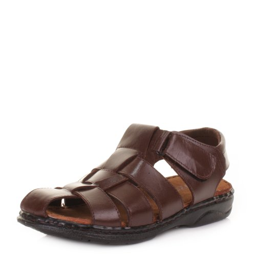 Mens Fisherman Leather Summer Sandals SIZE 11