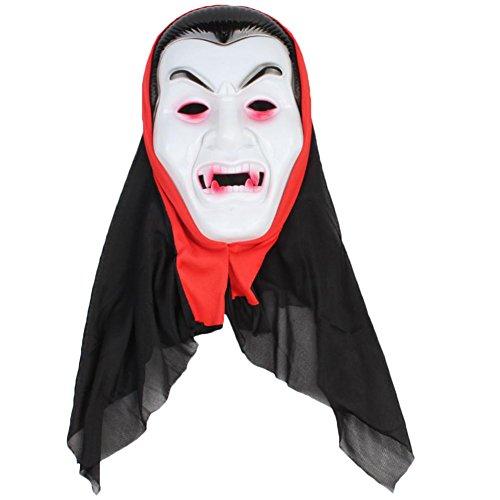 Halloween Horror Teufel Maske Scary Kunststoff Maske Masquerade Kleid Party Full Face Maske Erwachsene Cosplay Prop für Bar Party, plastik, White Face Devil, 16x24cm